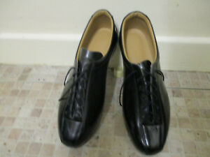 Black all leather cycling shoes retro classic L'Eroica