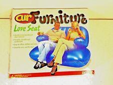"""Intex Air Furniture Love Seat Blue 54"""" 37.5"""" 42"""" New NOS 1999"""