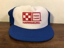 Vintage Purina Chow Trucker Snapback Hat Harrisburg PA Made In USA Feed