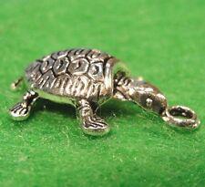 10Pcs. Tibetan Silver 3D TURTLE Tortoise Charms Pendants Earring Drops TF29