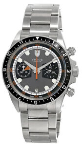 New Tudor Heritage CHRONO AUTO 42MM SS Gray/Black Dial Men's Watch M70330N-0006