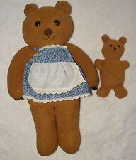 Vtg Fisher Price Brown Mama & Baby Bear Stuffed Animal 1981 #248