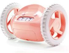 Clocky Runaway Alarm Clock On Wheels Pink Rolling Moving Fun Heavy Sleeper