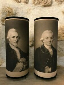 Pair Of Lamps Cylinder (Way Black) 18é Granville And William Sharp