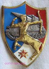 IN13363 - INSIGNE 74° Régiment d'Artillerie, bleu, 5 galets, dos grenu, épingle