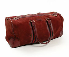 Original Gucci Leather Men Bordo Travel Duffel Handbag Bag