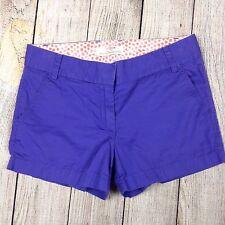 J. CREW Size 2 Broken In Purple Chino Shorts Women's Cotton Casual Short