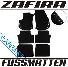 Opel Zafira B Bj. 2005-2011 Fussmatten Autoteppiche mit LOGO 7-sitzer