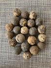 Lot of  22 Large dug Civil War Grape Shot From Battle Of Third Winchester