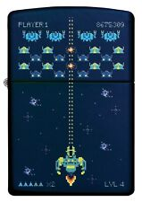 ZIPPO LIGHTER NAVY MATTE SPACE INVADERS (91114) GIFT BOXED - AU STOCK !