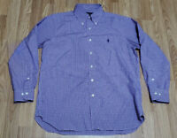 Ralph Lauren Polo, Easy Care 15.5 - 32/33 L/S Mens Button-Down Shirts Purple