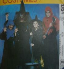 McCall's Sewing Pattern 3334 Adult Costumes S-XL Witch Reaper Men's Women's