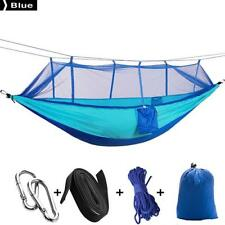 Camping Hammock with Mosquito Net Double Persons Portable Bed Tent Blue