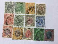 1935-37 Malaya Malaysia Perak 13 Old Stamps