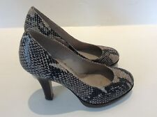 Office animal print court shoes size 37/4 leather uppers & lined