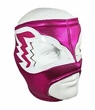 WHITE HAWK (pro-fit) Lucha Libre Open Top Wrestling Luchador Mask - Hot Pink