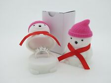 Snowman Ring Box - Xmas Gift Box Case, Stud Earrings Jewellery Etc
