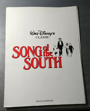 Disney's Song Of The South Complete Press Release From 1946 Plus More L@@K