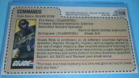 CUSTOM 1984 GI Joe Snake Eyes v1 Figure JCPenney Sears Uncut Red Back File Card