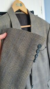 """MAGEE POW Check Suit 46"""" Long 39/40""""W 34"""" L Prince of Wales BIG AND TALL"""
