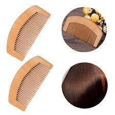 Hair Care Peach Wood Comb Fine Tooth Head Massage Beard Mustache Anti-static New