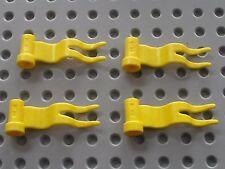 4 x Drapeau LEGO yellow flag ref 4495 / Set 6080 7417 6041 6562 6395 3538 ...
