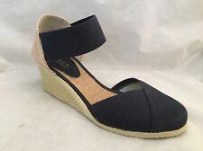 Lauren Ralph Lauren Size 10B Women's Charla Closed-Toe Navy Wedge Slide Sandals
