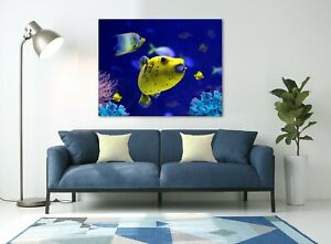 Canvas Print Art Wall Home Decor jellyfish fish 30x20 cm