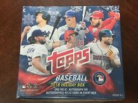 2018 Topps Holiday Mega Box - New Sealed Auto RC Acuna Devers Albies Snowflake