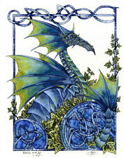 Amy Brown Knots & Ivy Dragon Print Retired Signed Limited Edition 8.5x11 Celtic