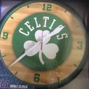 "Boston Celtics Logo on 12"" Round Wall Clock by WinCraft"