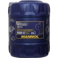 Hydrauliköl 20 (1x20) Liter Hydro ISO HLP 46 MANNOL VDMA 24318, DIN 51524/2