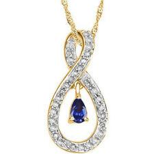585er Gelb gold 1,65KT Natürlich Tansanit EGL Zertifiziert Diamant Anhänger