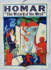 HERMAN HOMAR - The Wizard of the West Vintage Magic Poster - The Spirit Cabinet