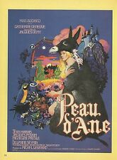 "1982 VINTAGE ""PEAU D'ANE, THE MAGIC DONKEY, 1970"" DENEUVE MINI POSTER Lithograph"
