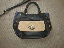 EMMA FOX 100% Leather Satchel Purse, Shoulder Bag