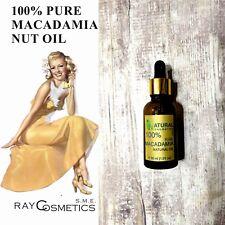 EU Grade, 100% Pure Natural Macadamia Nut Oil 30 ml, skin and hair care