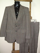 Vintage~BOTANY 500~BROWN Plaid SUIT~2 Button~42 R?~36 x 31+ PANTS~So AWESOME