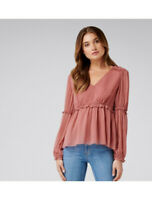 FOREVER NEW   Womens Bella Gather & Frill Blouse Top  [ Size AU 10 or US 6 ]