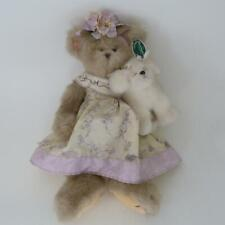 "THE BEARINGTON COLLECTION 16"" DRESSED TEDDY BEAR- PATRICE AND PUFFBALL 1640"