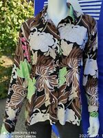 JM COLLECTION Women's Size MED Long Sleeve Button Front Blouse Top M