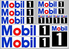 Mobil 1 Stickers/Decals - 12 High Quality Printed and Cut Stickers