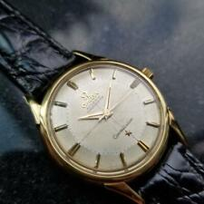OMEGA Mens 18k Gold Constellation Piepan Automatic c1960s Swiss Vintage LV669BLK