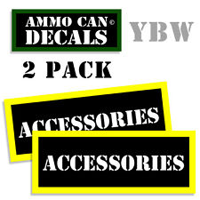 ACCESSORIES Ammo Label Decals Box Stickers decals - 2 Pack BLYW