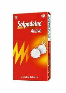 Solpadeine 12 Tablets Soluble Migraine Headache Backache Rheumatic Pain