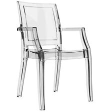 Chaise design 'NALA' transparente en matière