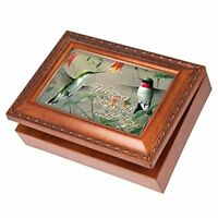 Cottage Garden Daughter Woodgrain Traditional Music Box Plays You are my Sunshine MB818