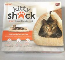 "NEW Kitty Shack Mat for Cat Tunnel Bed - Tan - 35"" X 22"" X 3"" unzipped Large Mat"