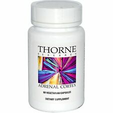THORNE RESEARCH - ADRENAL CORTEX - 60 VEG CAPS - PURE BOVINE ADRENAL CORTEX