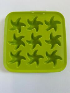 IKEA Ice Cube Tray Mold 9 Cavity Green Synthetic Rubber Crayon Soap Candy Craft